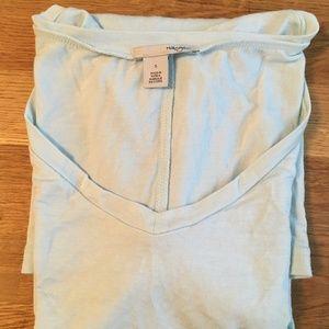 Halogen Modal Jersey V-Neck Tee Size S Light Blue